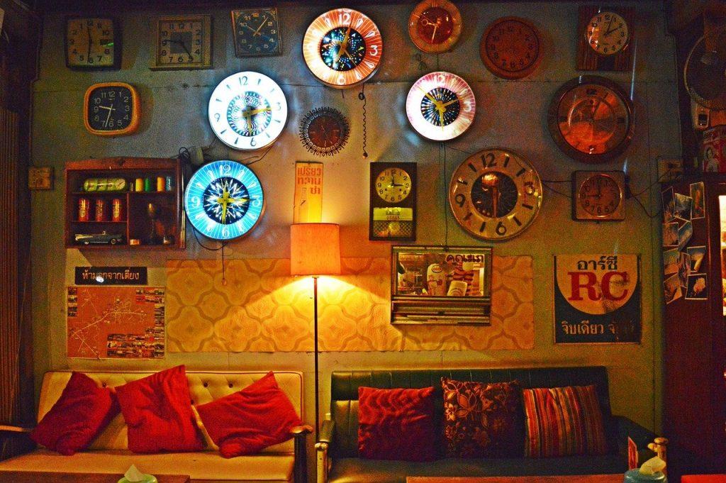 wall, clock, frame